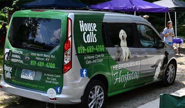 Hebron Animal Hospital's mobile van